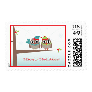 Owl Couple Christmas Postage {TBA}