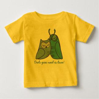 Owl Couple Cuddling Infant T-shirt