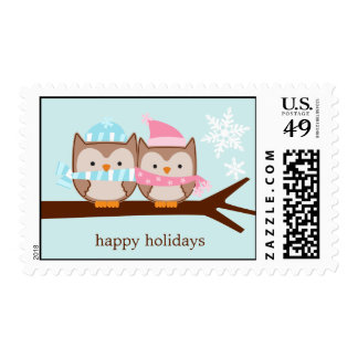 Owl Couple Custom Postage