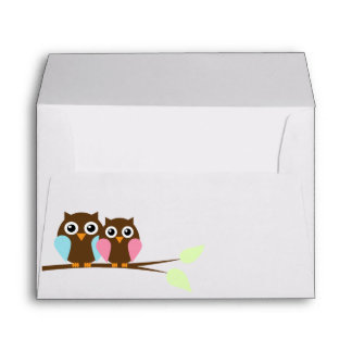 Owl Couple Envelopes