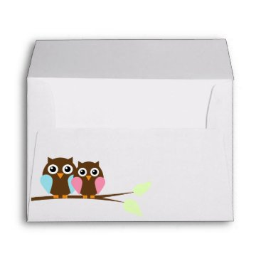 heartlocked Owl Couple Envelopes
