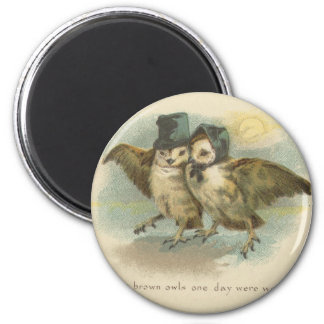 owl couple magnet