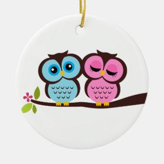 Owl Couple Ornaments