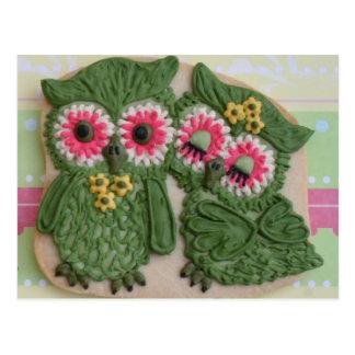 Owl Couple Sweet Postcard