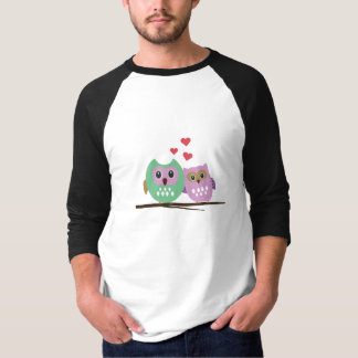 Owl couple tee shirt