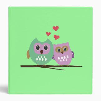 Owl couple vinyl binders