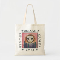 owl cowl- winter woodland games 2014 tote