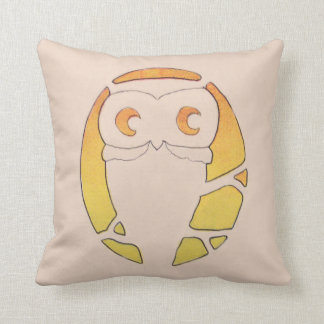 Owl Crescent Moon Tree Pillow