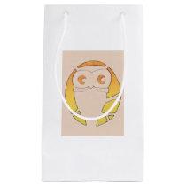 Owl Crescent Moon Tree Small Gift Bag