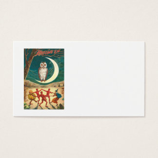 Owl Crescent Moon Witch Demon Creature Business Card