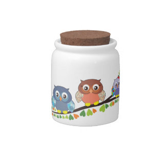 Owl Critters Candy Jar