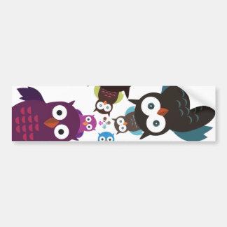 Owl Crowd Car Bumper Sticker