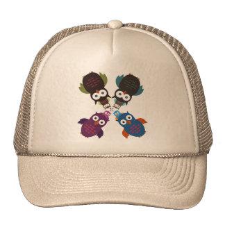 Owl Crowd Trucker Hat