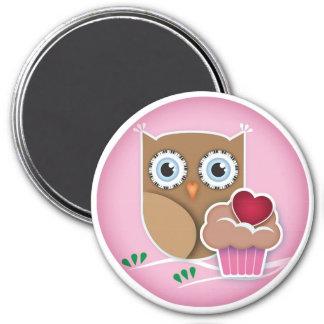 Owl Cupcake Magnet