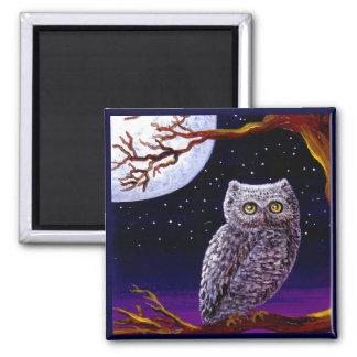 Owl Cute Funny Bird Art Wildlife Creationarts LRA Refrigerator Magnets