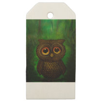 Owl cutie wooden gift tags