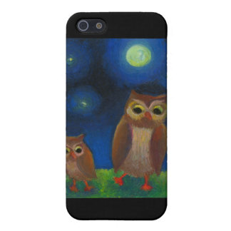 Owl dance lesson full moon night cute unique art iPhone SE/5/5s case