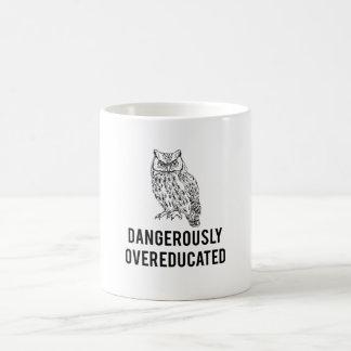 owl, dangerously overeducated coffee mug