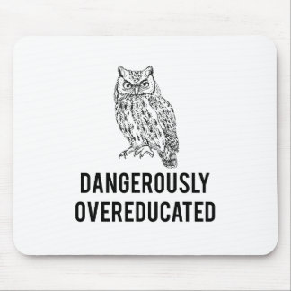 owl, dangerously overeducated mouse pad