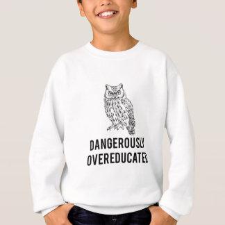 owl, dangerously overeducated sweatshirt