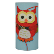 Owl decoration flameless candle