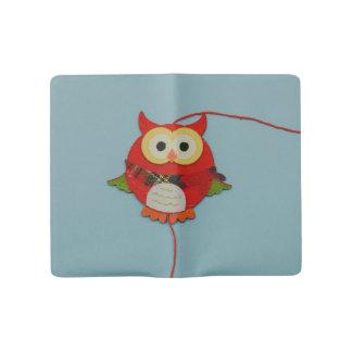 Owl decoration large moleskine notebook