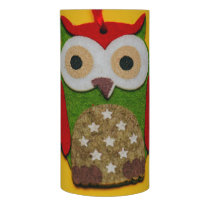 Owl decoration on a yellow background flameless candle