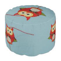 Owl decoration pouf