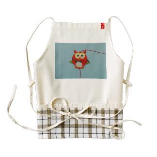 Owl decoration zazzle HEART apron