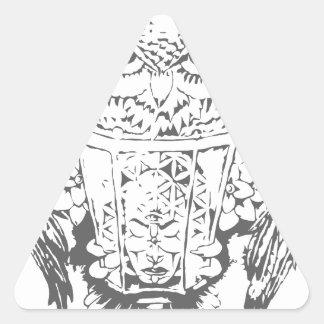Owl Deity Triangle Sticker