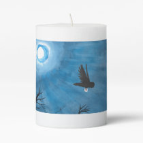 Owl Delivery Pillar Candle