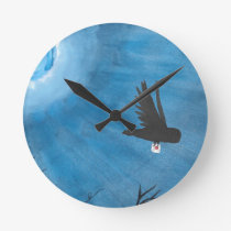 Owl Delivery Round Clock