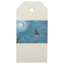 Owl Delivery Wooden Gift Tags