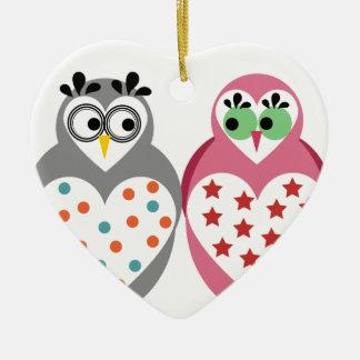 Owl Design Ceramic Ornament