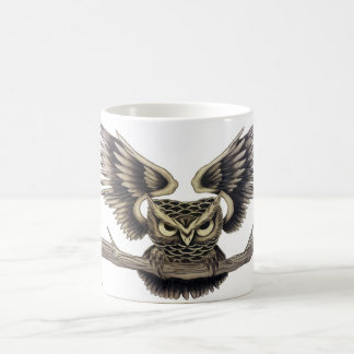 Owl design coffee mug