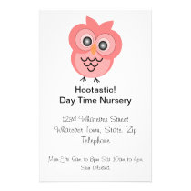 Owl Design Day Nursery Flyer