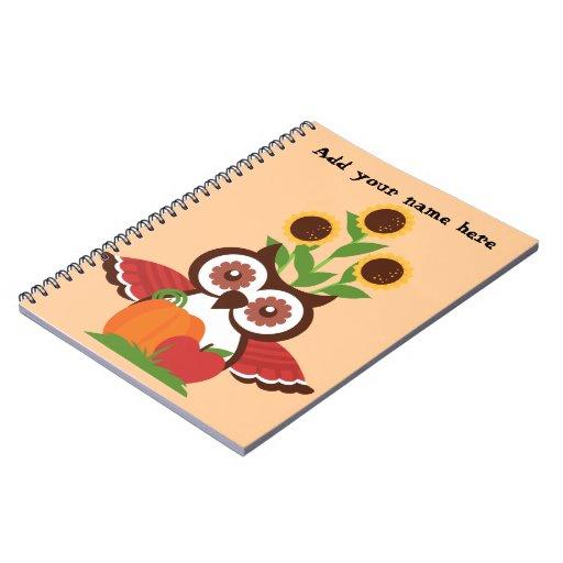 Owl design notebooks
