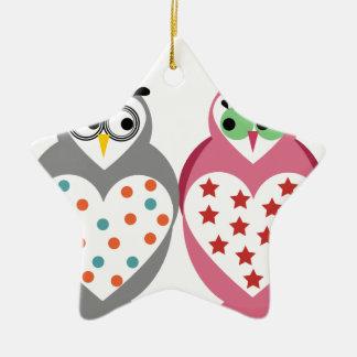 Owl Design Ceramic Star Decoration