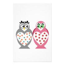 Owl Design Stationery