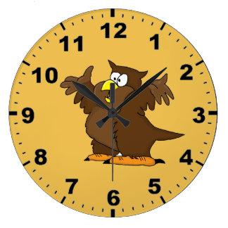 Owl design wrist watches large clock