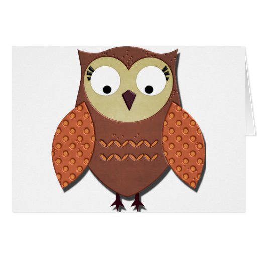Owl designs greeting card