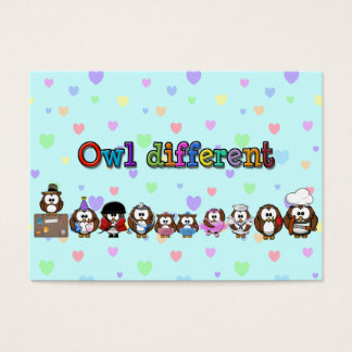owl different business card