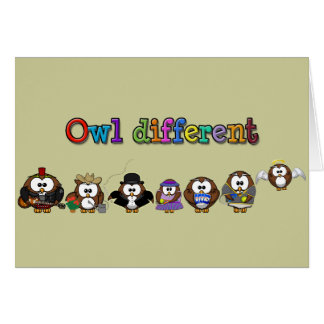 owl different card