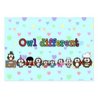 owl different large business card