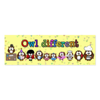owl different mini business card