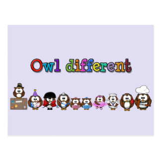 owl different postcard