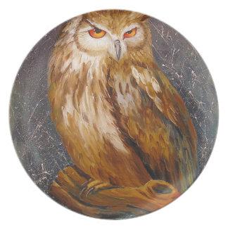 Owl Dinner Plate