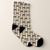 Owl Doodle Face Socks