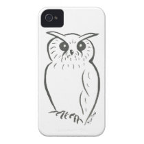Owl doodle iPhone 4 cover