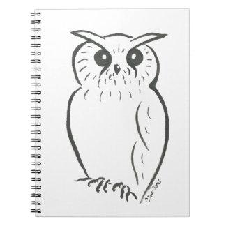 Owl doodle spiral notebooks